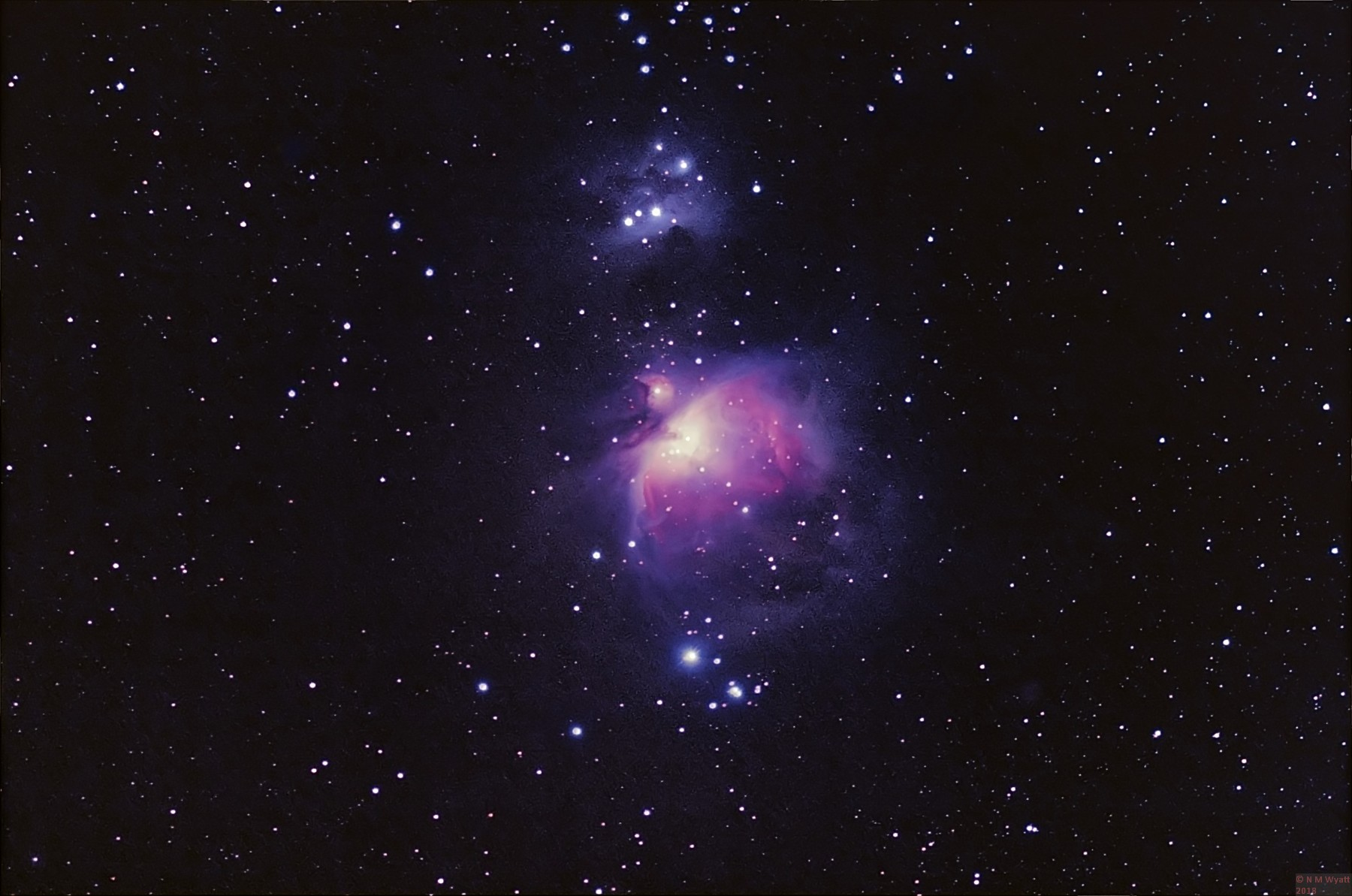 orion nebula reprocessed deconvoluted filtered