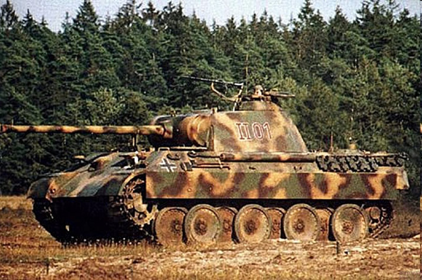 Contemporary WW2 colour photo of a Panther Tank