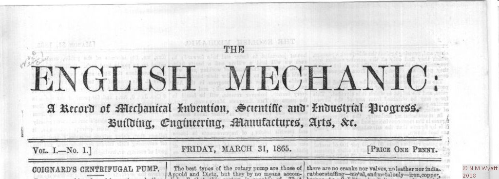 The English Mechanic, March 31 1865